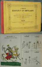 A SYMBOLICAL HISTORY OF ENGLAND - 1839 GRAVURES COULEURS - Emblems monarchy King