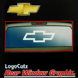 Big Chevy Bowtie Vinyl Decal Emblem Graphic Sticker For CarTruck - Chevy bowtie rear window decal