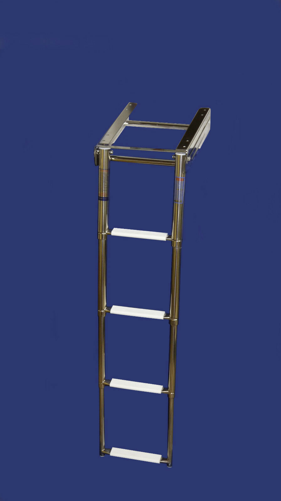Badeleiter für Badeplattform 3&4 Stufen Teleskopleiter klappbar Stiefelleiter Niro