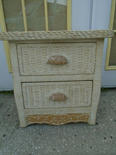 Pier 1 Wicker Nightstand Cottage Jamaica Imports One Rattan Table Bed
