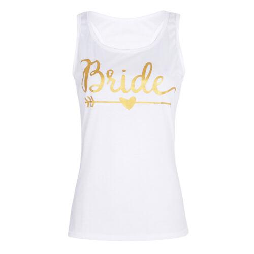 Bride Squad Bridesmaid TANK TOP Wedding Party Lady Party Tee Sleeveless Shirts