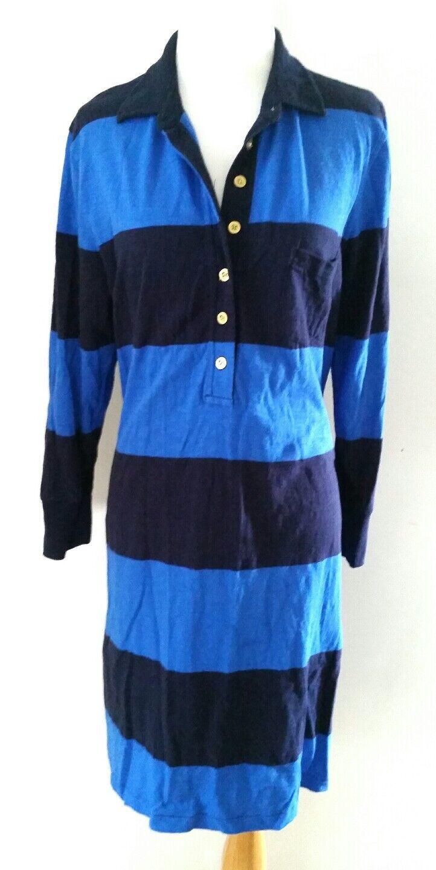 J.CREW blueE STRIPE RUGBY DRESS DRESS DRESS SZ S 4 6 bb2683