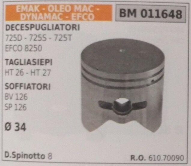 61070090 PISTONE COMPLETO SOFFIATORE EMAK DYNAMAC EFCO OLEOMAC BV SP 126 Ø34