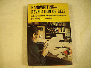 Handwriting Revelation of Self Source Book of Psychographology Teltscher 23-3I