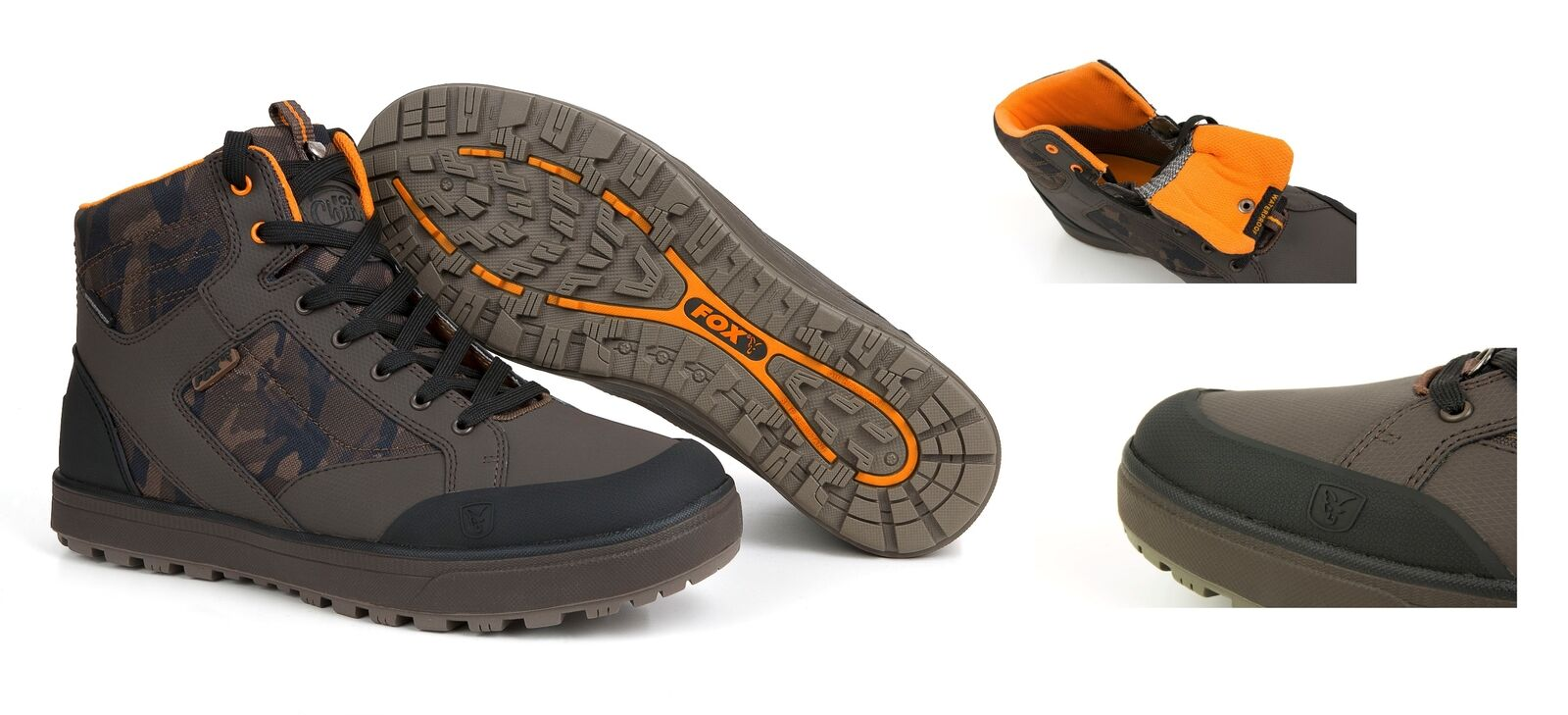 Fox Chunk Camo MID Boots Gr. 46 Wasserdicht Camouflage Stiefel Angelstiefel NEW