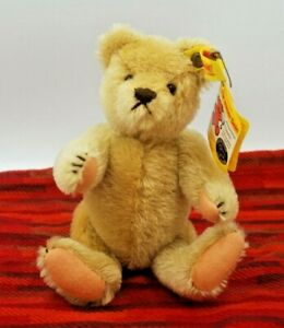 "Vintage Steiff Celebration Teddy Bear w/tags & brass button 8"""