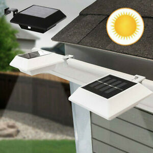 3-LED Solar Powered Gutter Light Outdoor//Garden//Yard//Wall//Fence//Pathway Lamp CHL