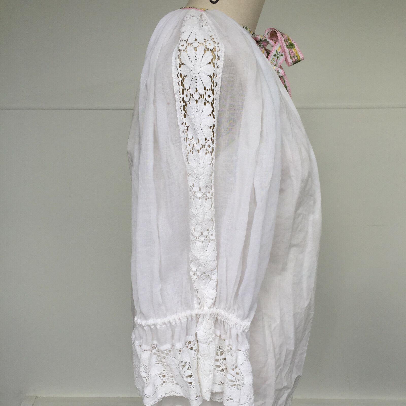 VTG 1970s Hungarian Handmade Textured Boho-Chic P… - image 6