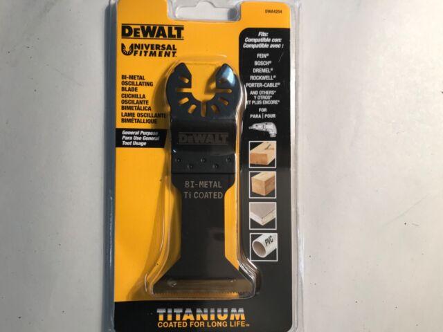 DEWALT DWA4204 Wide Titanium Oscillating Wood With Nails Blade for sale online