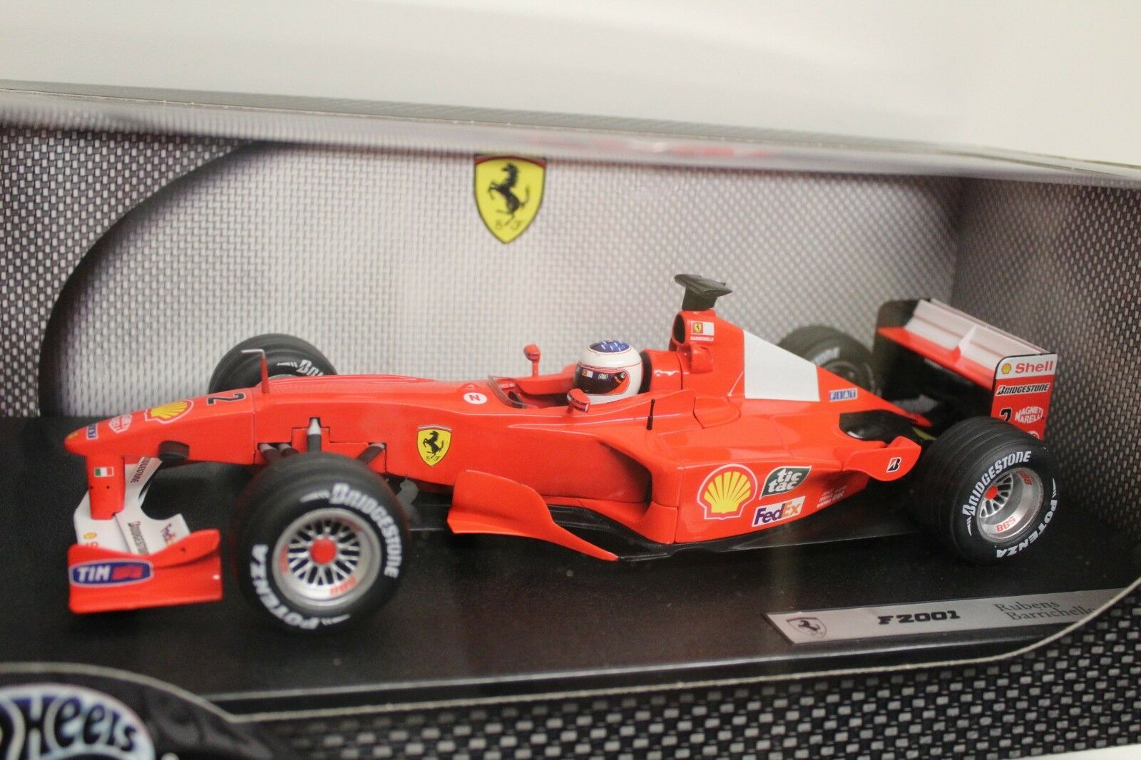 Hot Wheels ferrari f2001 rubens barrichello Factory sealed New nuevo f 2001