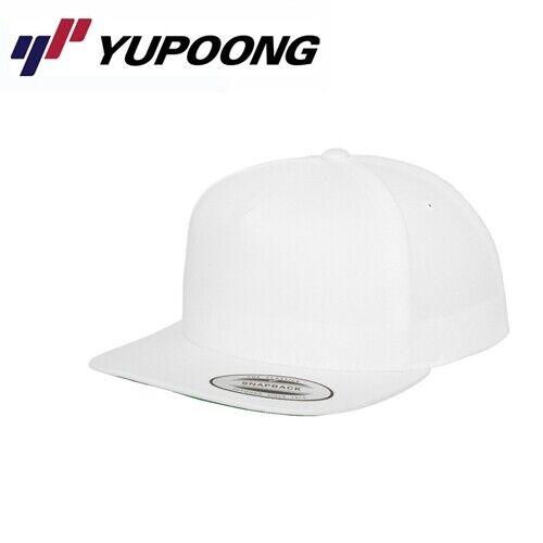 Yupoong Snapback 5 Panel Snapback Cap UNI//taille unique blanc