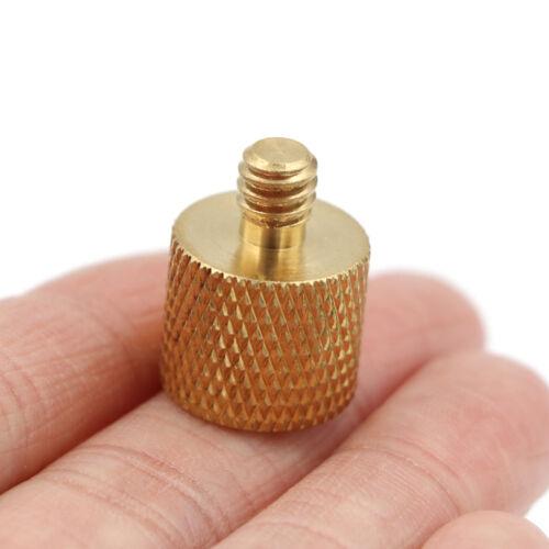 Adaptador de tornillo de rosca de cámara de trípode 1pc 3//8 a 1//4 hembr F4