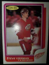 Steve Yzerman 1986//87 OPC O-Pee-Chee Detroit Red Wings Hockey Card # 11 NM