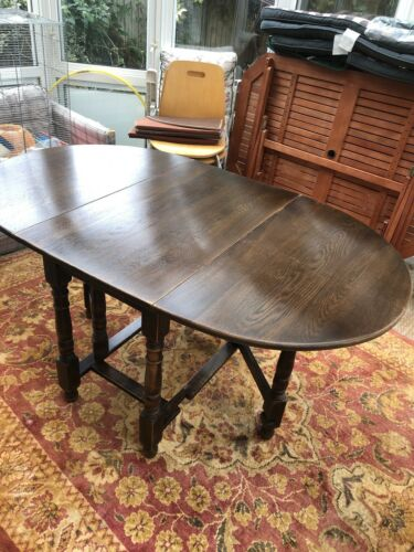 Soild Wood Double Gate Leg Brown Table Dinning Table Tailored To Fit Heat Mats