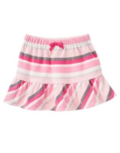 GYMBOREE GLAMOUR BALLERINA COLOR STRIPE MICROFLEECE SKIRT 3 4 5 6 7 8 9 10 12