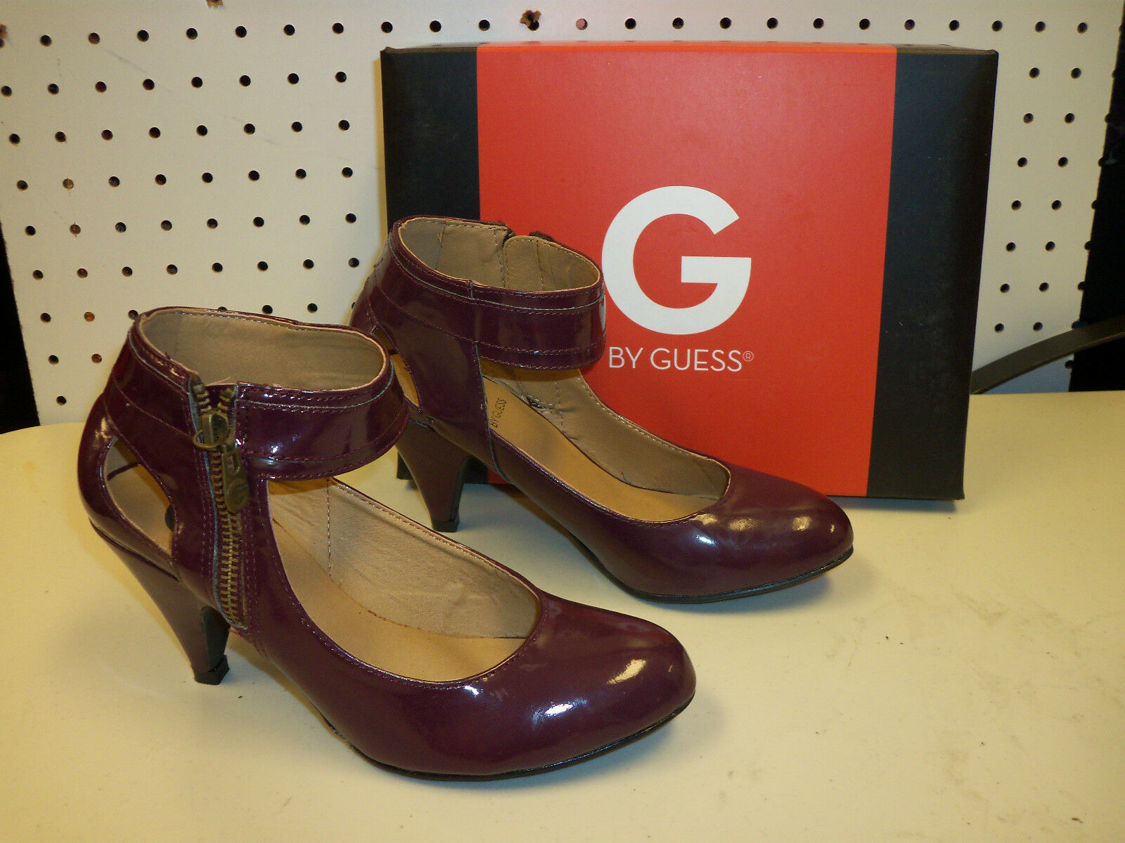 G By Guess New Womens Gilana Dark Red Synthetic Heels shoes Mary Janes 6 M