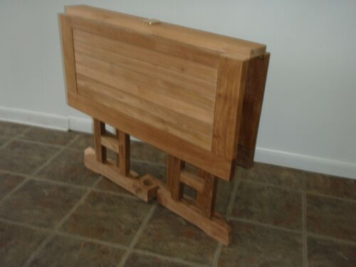 """Windsor's Genuine Grade A Teak 35"""" Square DropLeaf Table W/4 Stacking Arm Chairs 793150346417"""