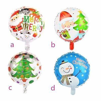 "18/"" Inch Xmas Blue Father Christmas Party Balloon X-mas Decor Foil Helium baloon"