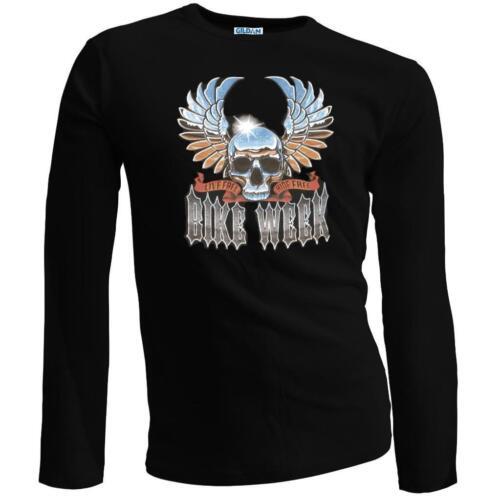 2XL Motard moto couleur sturgis bike week à manches longues t-shirt noir s