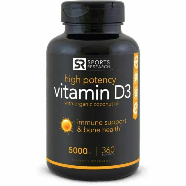 High Potency Vitamin D3  enhanced with Coconut Oil for Bette