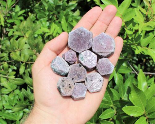 1 Piece Ruby Sapphire Natural Hexagon Corundum Crystal You Choose Size