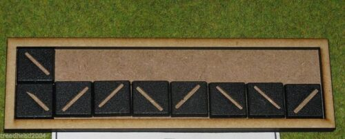 8×2 MDF laser cut MOVEMENT TRAY 20mm Infantry Bases