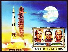 Umm al Qiwain 1972 ** Bl.42 Space Weltraum Apollo 15