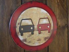 No overtaking! embossed vintage style metal sign notice