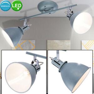 Détails sur Plafonnier Led Chambre à Coucher Spot Lampe Mobile Couloir  Rétro Lumière Gris