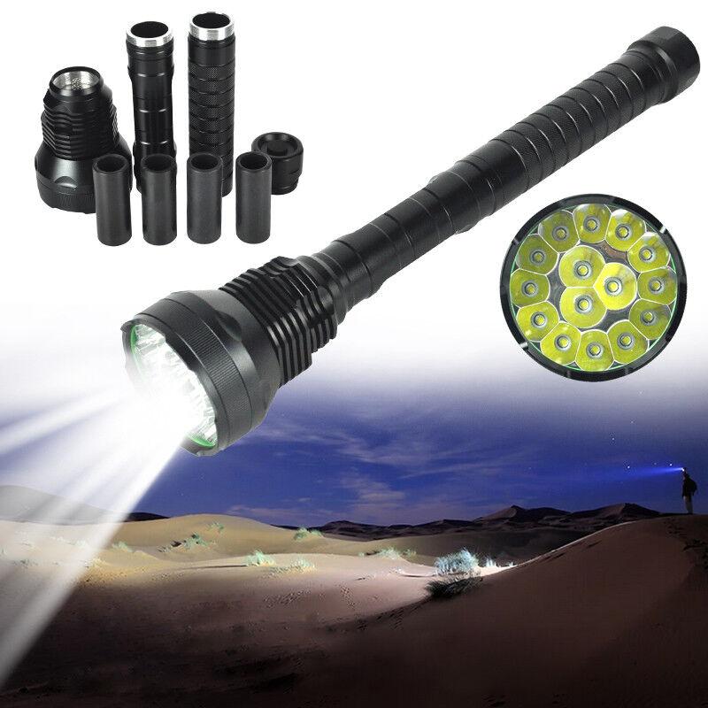 55W XM-L T6 15 LED Hunting Flashlight 5 Modes Super Bright Torch Lamp Light