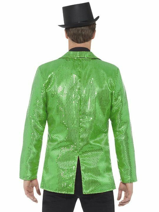 """Size: Chest 42/""""-44/"""", Leg Mens COST-M NEW Sequin Jacket Green - UK IMPORT"""