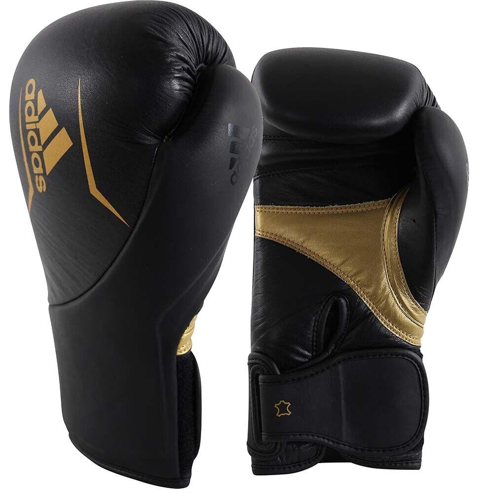 Adidas Boxhandschuhe, Speed 300, schwarz-Gold