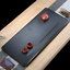water draining tea tray black stone heavy tea table Chinese characters carved