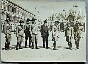 Venezia-1927Milizia-Forestale-Piazza-San-Marco-Gen-Agostini-foto-antica-fascismo