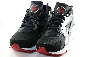Nike Air Huarache Mens Black Red Patent Leather Running 318429 032 ... 660704e3beb8