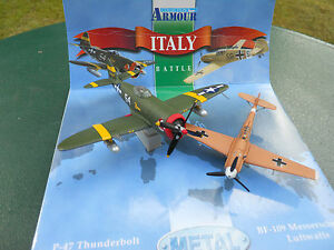 ARMOUR-FRANKLIN-MINT-ARMOUR-1-100-COFFRET-P-47-THUNDERBOLT-BF-109-MINT-IN-BOX