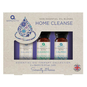 Aroma Home Essential Oil Blends Home Cleanse Set of 3