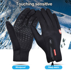 Bike Gloves Outdoor Winter Windproof Warm Non-slip Sport Bicycle Riding Mittens