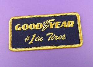 Goodyear 1 in Tires  Genuine 1970s Unused Cloth Patch - Coleford, United Kingdom - Goodyear 1 in Tires  Genuine 1970s Unused Cloth Patch - Coleford, United Kingdom