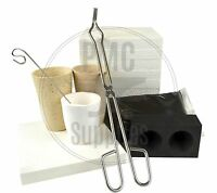 Microwave Gold Smelting Kiln Kit With Graphite Ingot Mold Crucibles Flux & Tongs