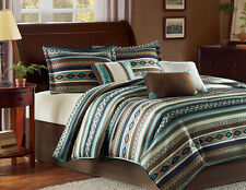 Southwest Turquoise Native American CAL King Comforter (7 Piece Bed In A Bag)