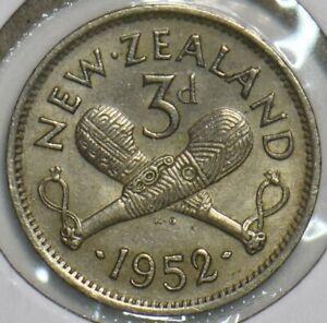 New Zealand 1952 3 Pence 903677 combine