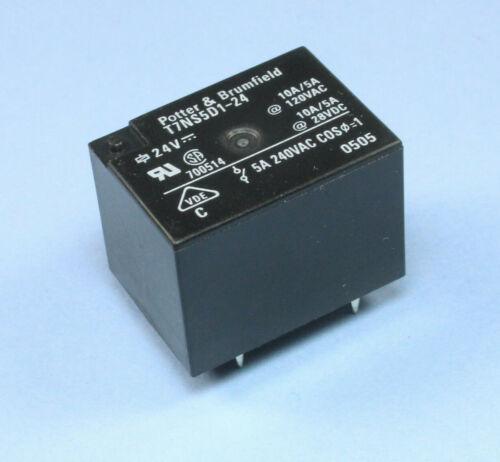 10a 120vac//28vdc 1pc p/&b relay t7ns5d1-24