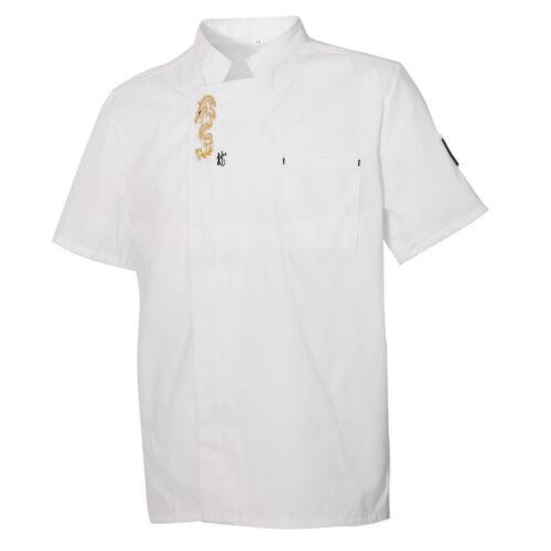 Chef Jacket Men Women Kitchen Short Sleeve Cooker Work Restaurants Uniform
