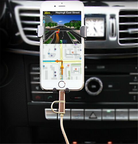 Car Mobile Phone Mount Holder Auto-Lock Auto Gravity Air Vent Smartphone Support