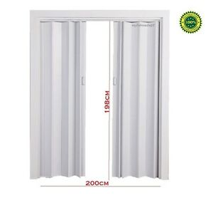 double sliding folding door pvc internal room panel divider utility