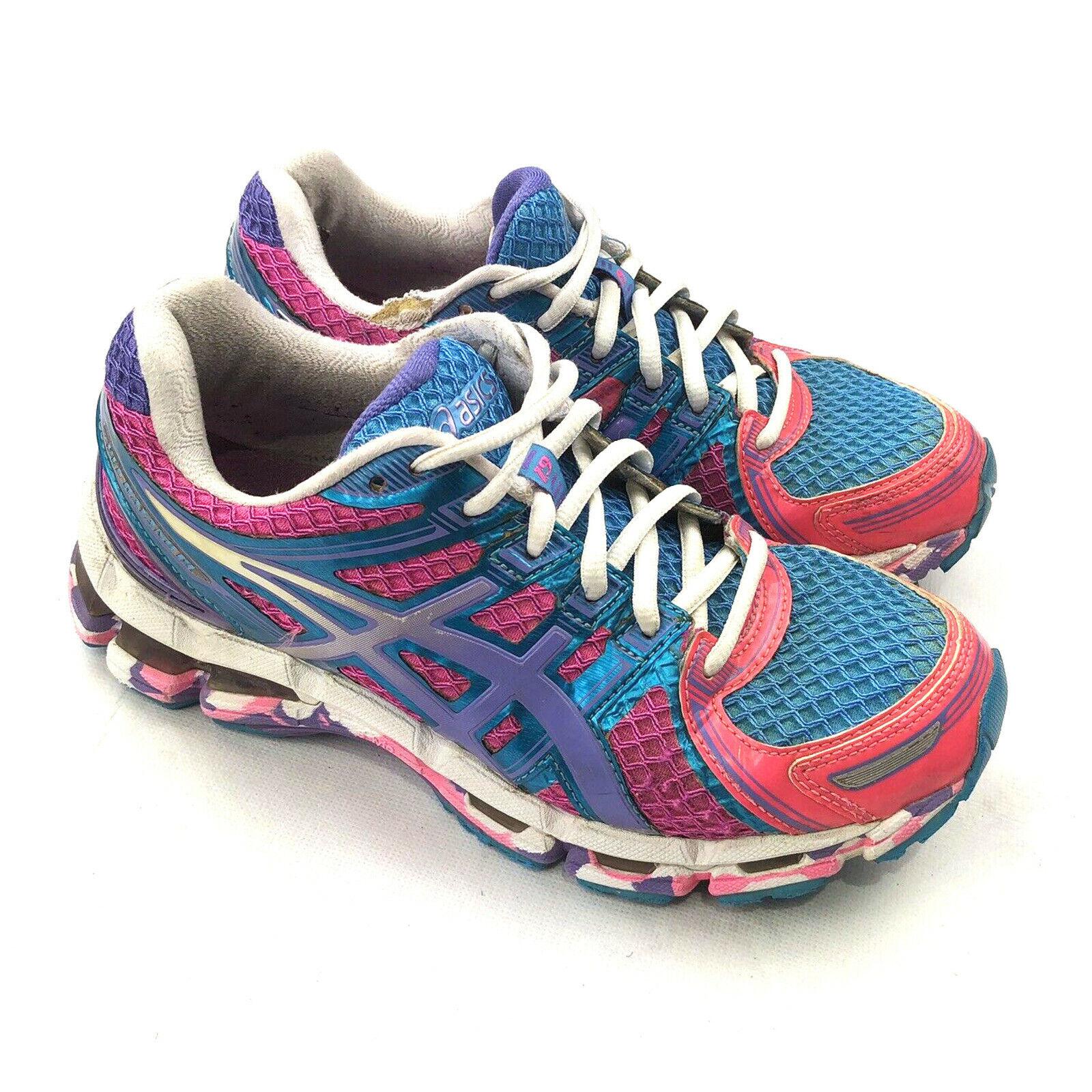 Asics Gel Kayano 19 Women's Athletic Running shoes Sneaker Pink Aqua T350Q sz 6