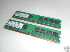 2X proMOS 512MB 1Rx8 PC2-5300U-555-12-D0 DESKTOP MEMORY V916764K24QCFW-F5