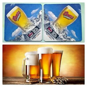 COORS-LIGHT-25-Beermats-Coasters-9-3-x-9-3-cms-USA