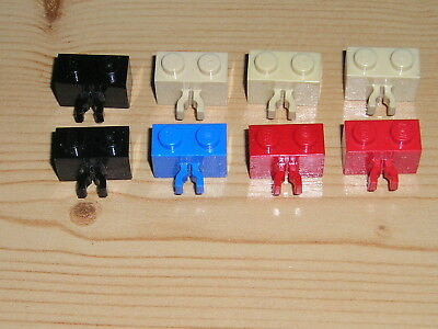 LEGO 3 x Figur Minifigur Vertical Lines Red /& Blue ver001